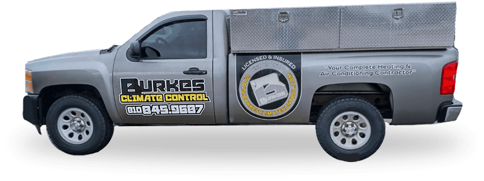 About us burkes heating and cooling service truck holly mi